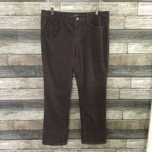 NWT Loft modern straight brown corduroy 12